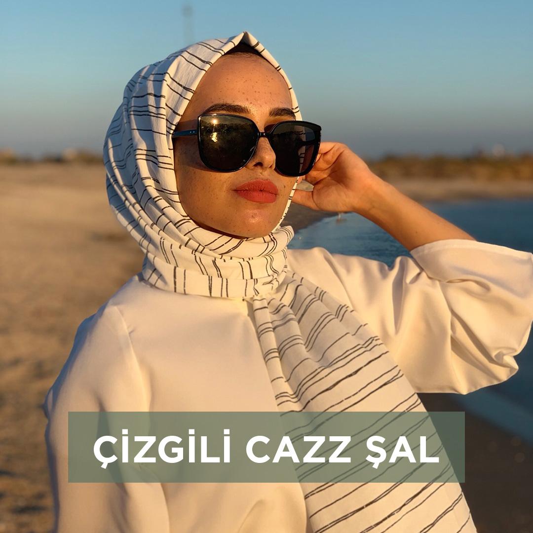 Çizgili Cazz Şal